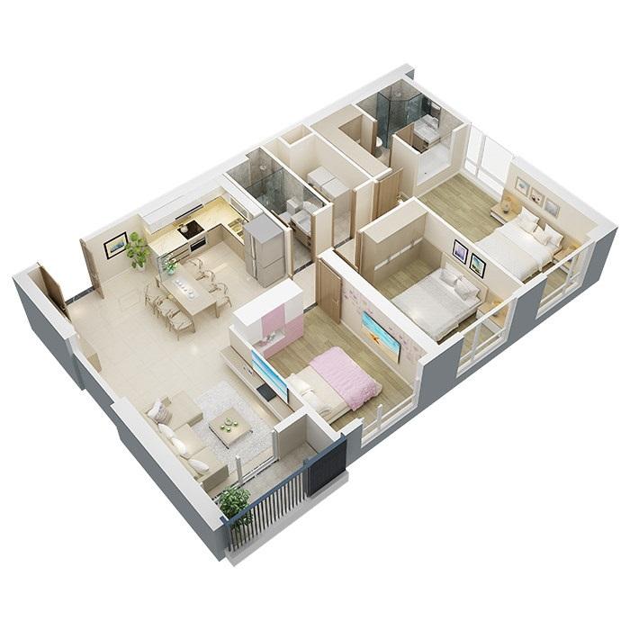 Căn hộ chung cư mỹ đình pearl 03 phòng ngủ