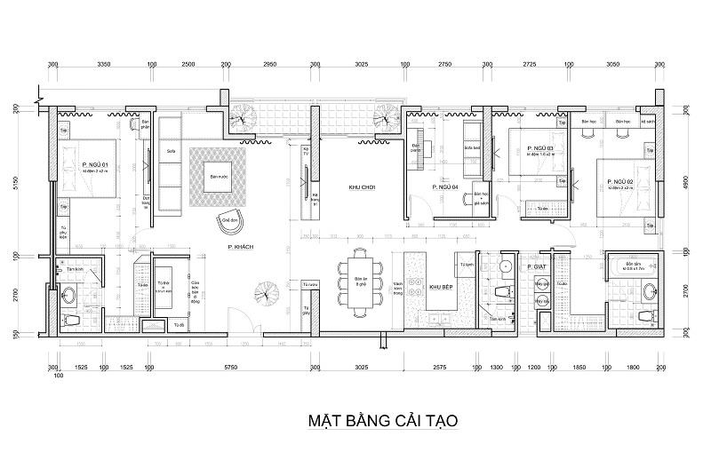 căn hộ 5 Phòng ngủ